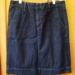EUC Eddie Bauer Stretch Jean Skirt 10 TALL